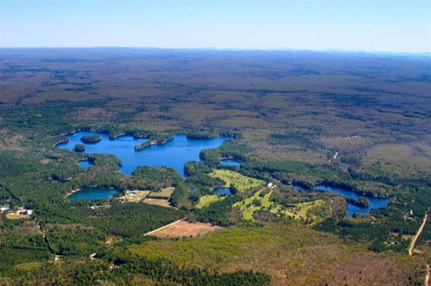 Brantingham Lake from above