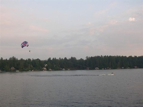 Parasail on Brantingham Lake